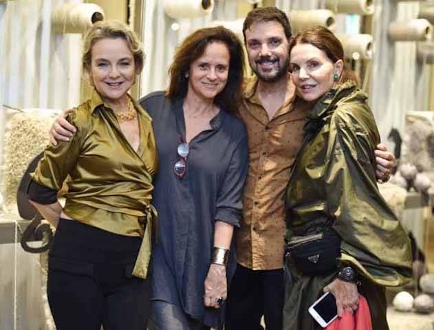 Bia Lettiere, Patricia Quentel, Mário Santos e Patricia Mayer