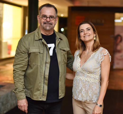 Eduardo Machado e Flávia Marcolini