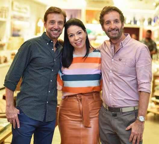 Nando Grabowsky, Jacira Pinheiro e Pedro Guimarães