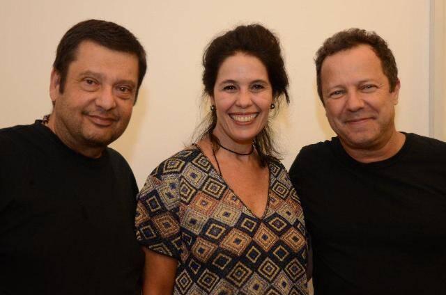 José Maurício Machiline e Cristina Guimarães e Vik Muniz