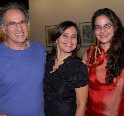 """GRAVURAS"" — RUBENS GRILLO, REGINA RAMOS E ADRIANA TABALIPA /Foto: Paulo Jabur"