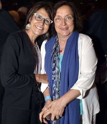 Clarisse Derzié Luz e Tânia Brandão