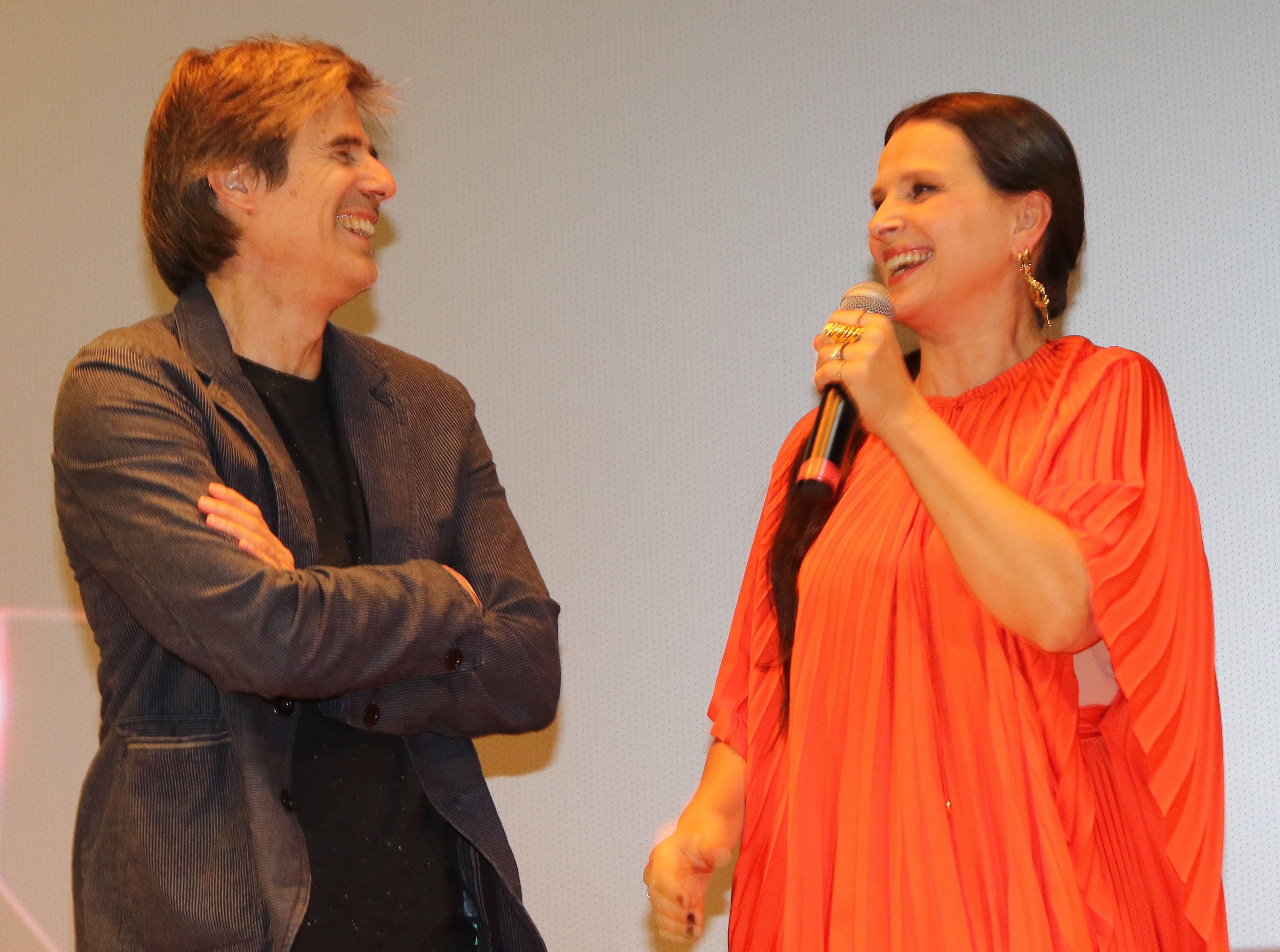 Walter Salles e Juliette Binoche  /Foto: Eny Miranda