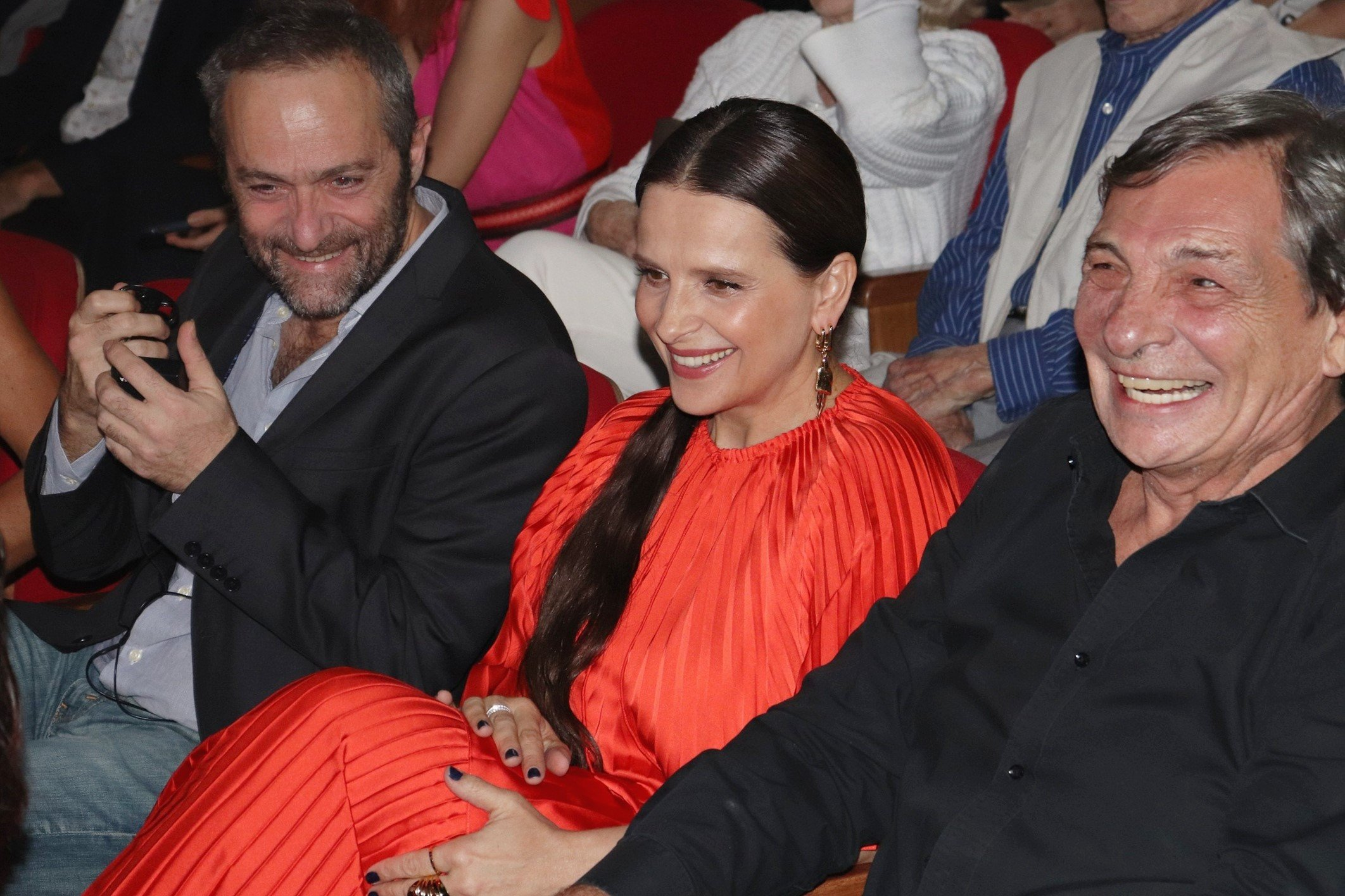Cédric Khan, Juliette Binoche e Jean Thomas Bernardeli /Foto: Paulo Monteiro @enrikmonteiro_photo @malacultural