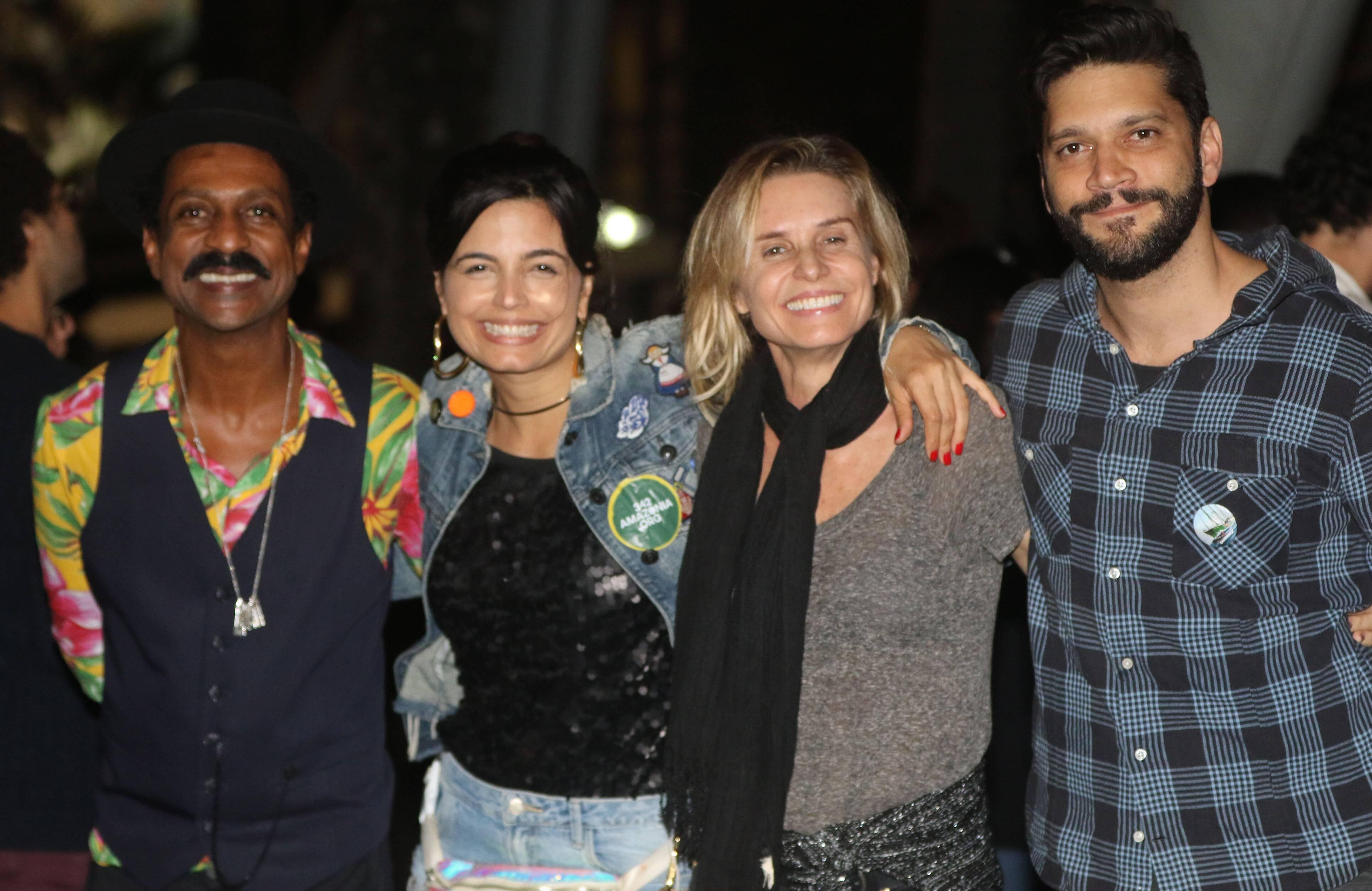 Luis Miranda, Emanuelle Araújo, Paula Burlamaqui e Armando Babaioff /Foto: Eny Miranda