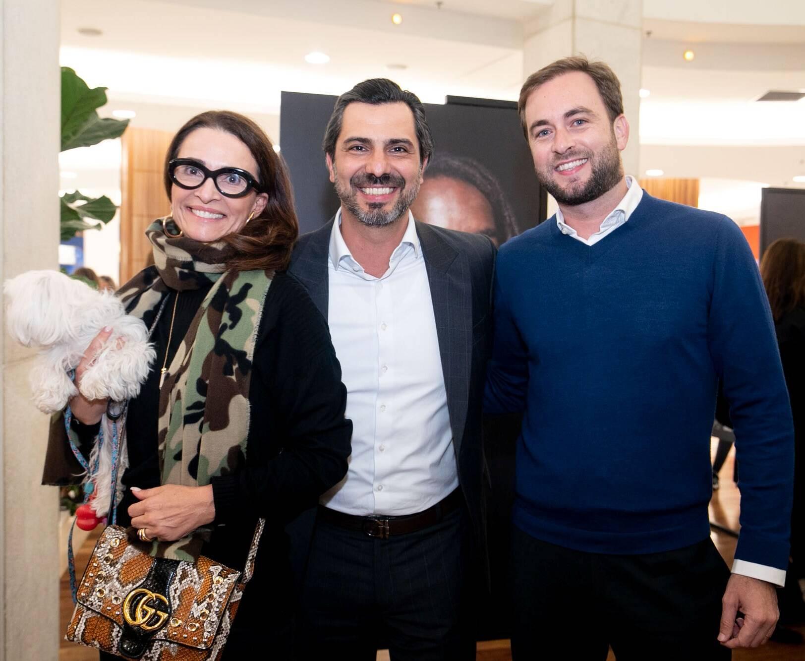 Andrea Natal, Rodrigo Lovatti e Cassiano Vitorino / Foto: Cristina Lacerda