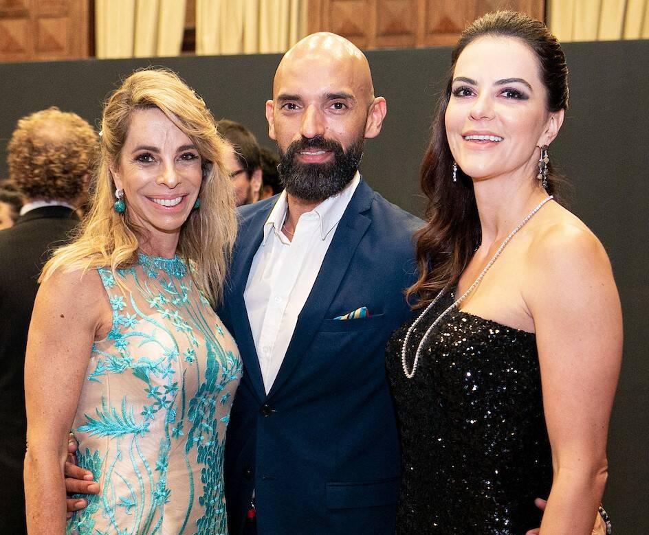 Monica Ibeas (ex Moreira de Souza), Luciano Lucca e Sheila Lustoza /Foto: Miguel Sá
