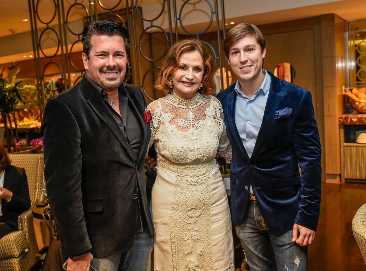 André Ramos, Rosamaria Murtinho e Gabriel Monteiro / Foto:  Mariama Prieto