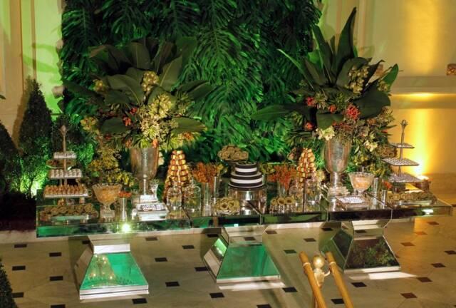 Parte da decoração da festa