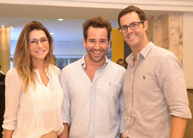 Flávia Rafiofe, Thiago Senna e Joaquim Monteiro de Carvalho