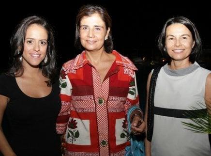 """VILEBREQUIN NO RIO"" — PAULA BEZERRA DE MELLO, KATIA AVILLEZ E VANIA ROLEMBERG /Foto: Vera Donato"