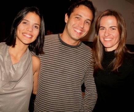 """""""JANTAR FLORENCE"""" — TATIANA BORGES, ALEXANDRE CARDIM E ROSANA SICCOLI /Foto: Geraldo Valadares"""