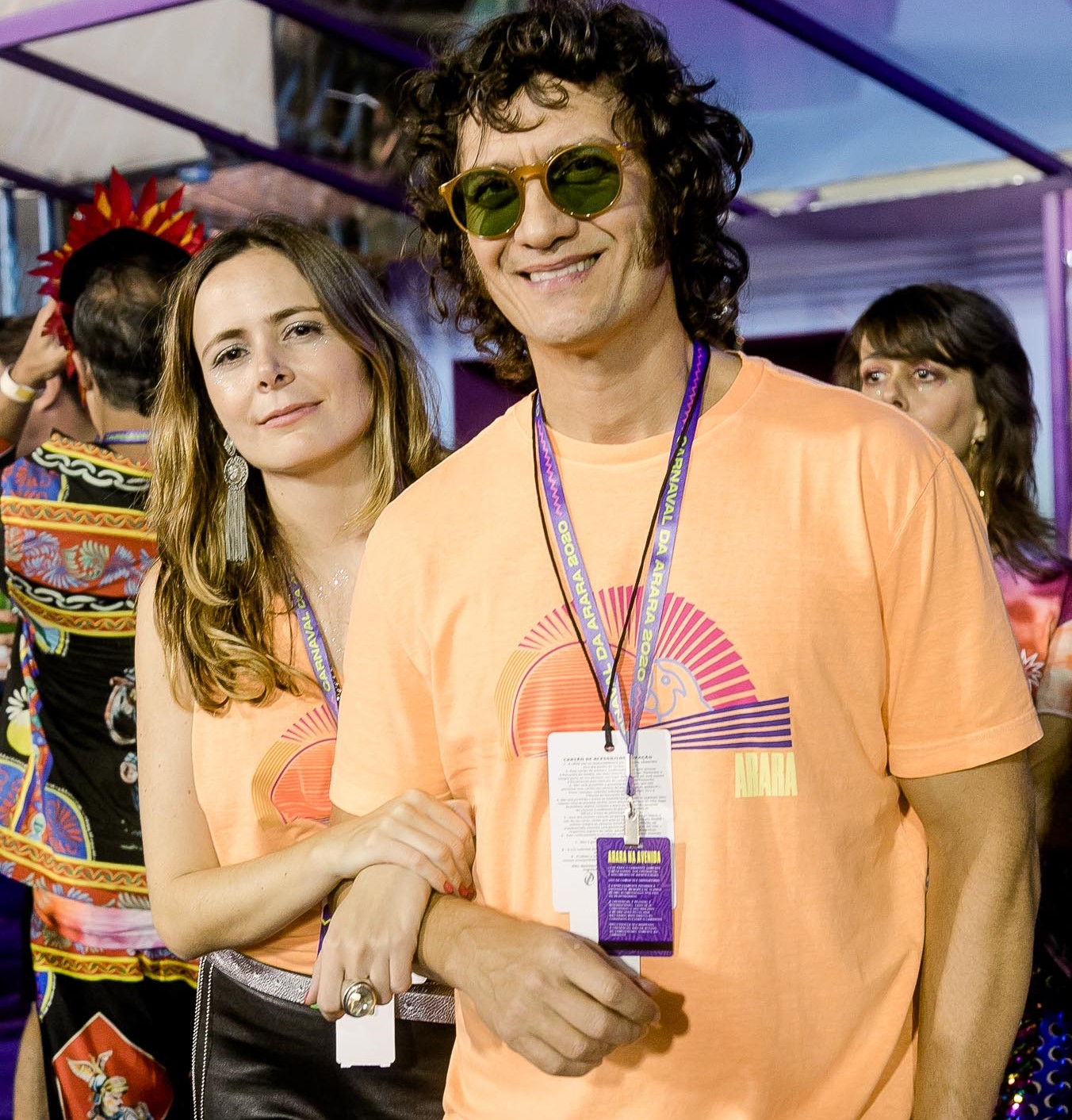 Izabel Nascimento Silva e Gabriel Braga Nunes  /Foto: Bruno Ryfer