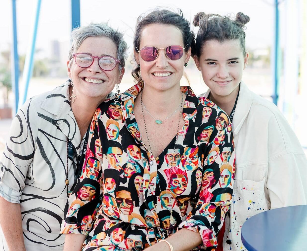 Vilma  Alice Valansi, Brenda Valansi e Helena Osório /Foto: Bruno Ryfer