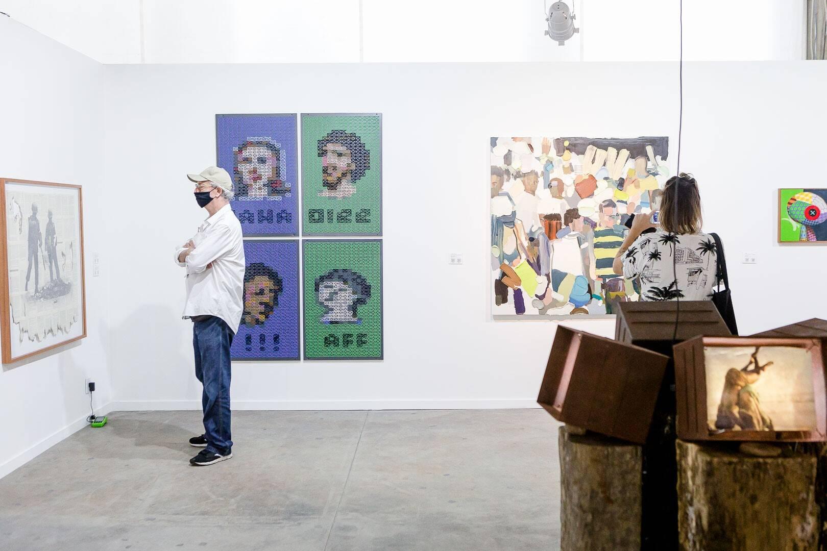Um dos ambientes da ArtRio /Foto: Bruno Ryfer