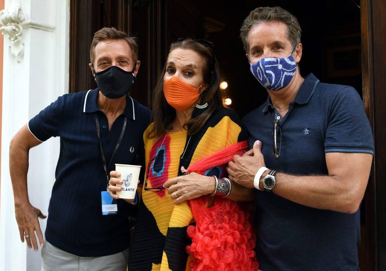 Patricia Secco entre Luiz Fernando Grabowsky e Pedro Guimarães  /Foto: Cristina Granato
