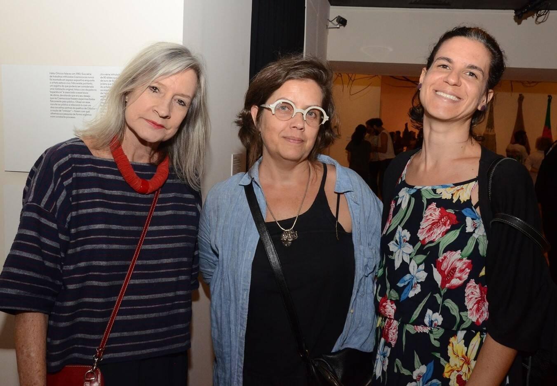 Cristina Pena, Rosangela Rennó e  Yara Castanheira /Foto: Marco Rodrigues
