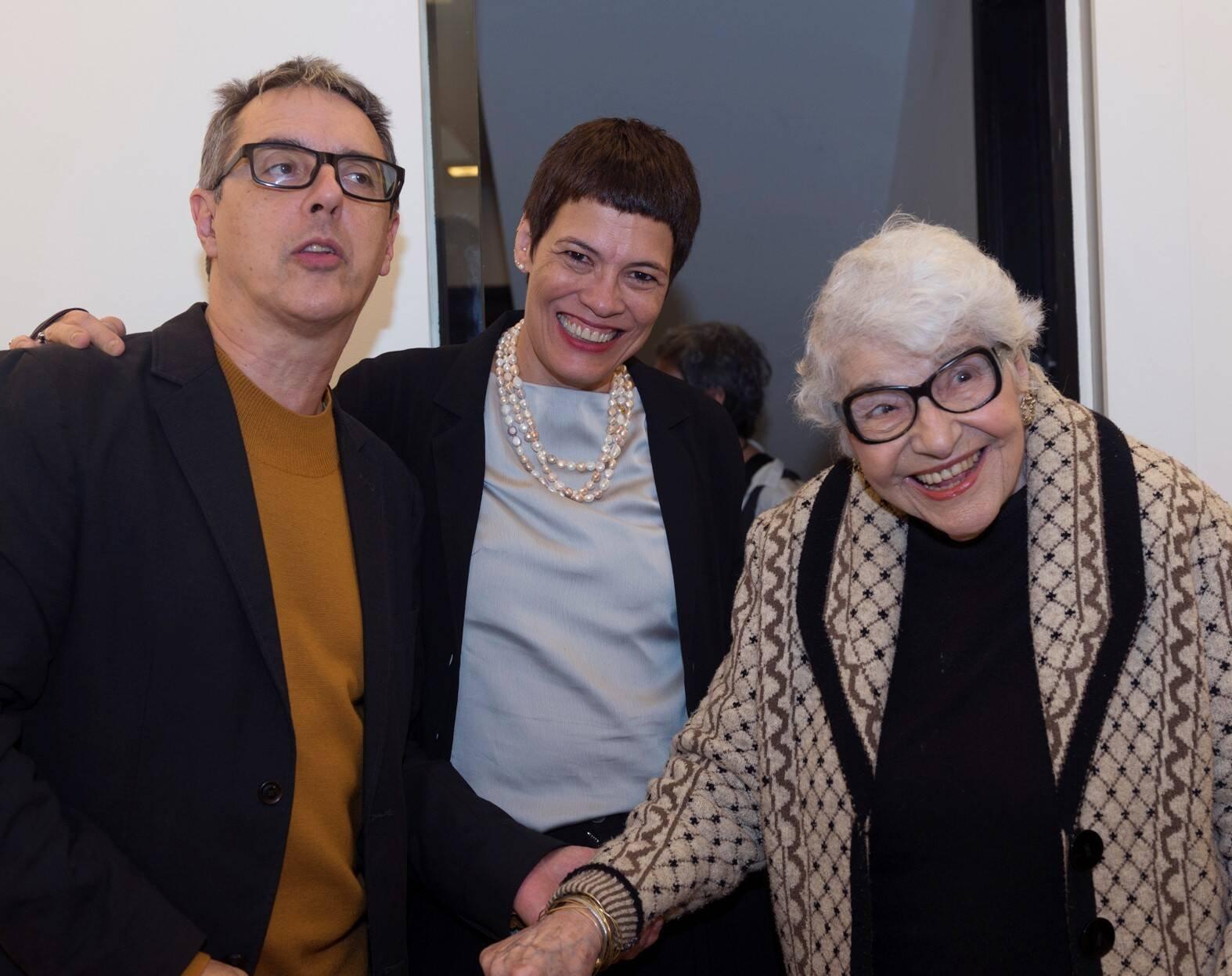 Nuno Ramos, Sandra Ramos e Carmen Lucia Roquette-Pinto /Foto: Diana Sandes
