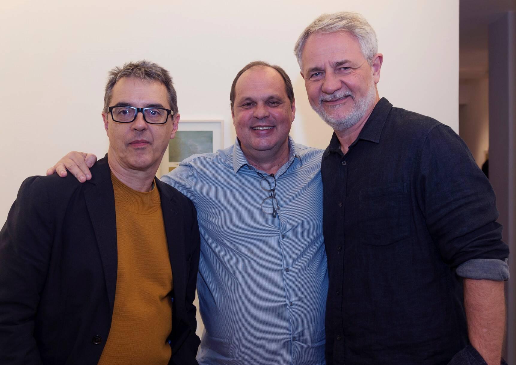 Nuno Ramos, Maneco Müller e Carlos Henrique Schroder /Foto: Diana Sandes