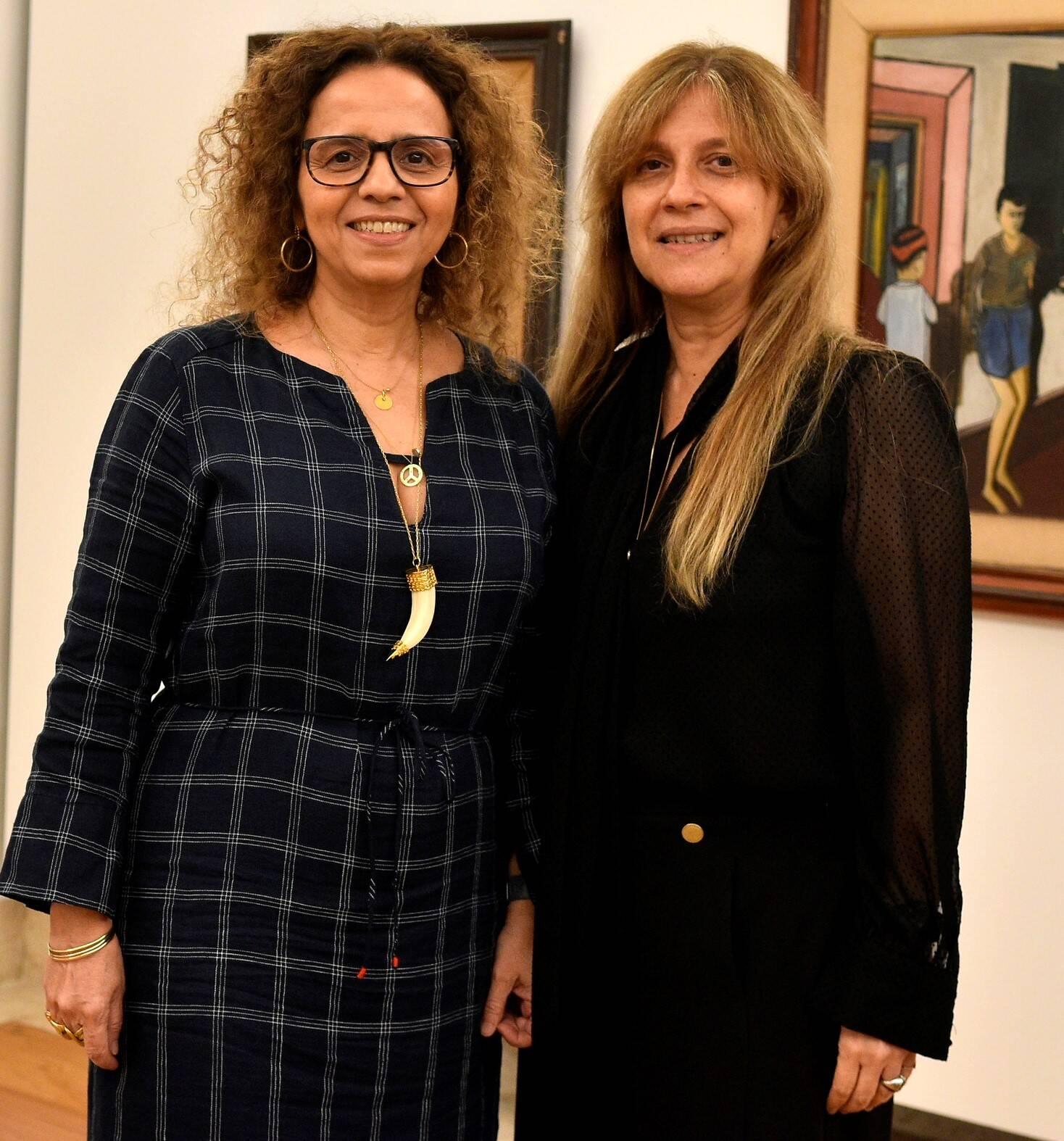 As irmãs Beatriz e Marcia Milhazes  /Foto: Roberto Teixeira