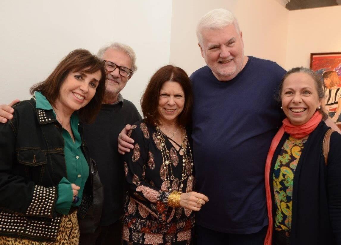 Vera Bocayuva, Neno Del Castilho, Vanda Klabin, John Nicholson e Sonia Salcedo /Foto: Marco Rodrigues