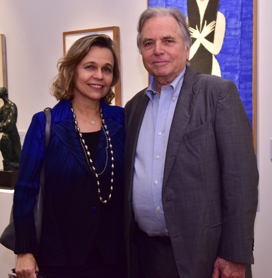 Maria Eduarda Marques e Leslie Bethell  /Foto: Paulo Jabur