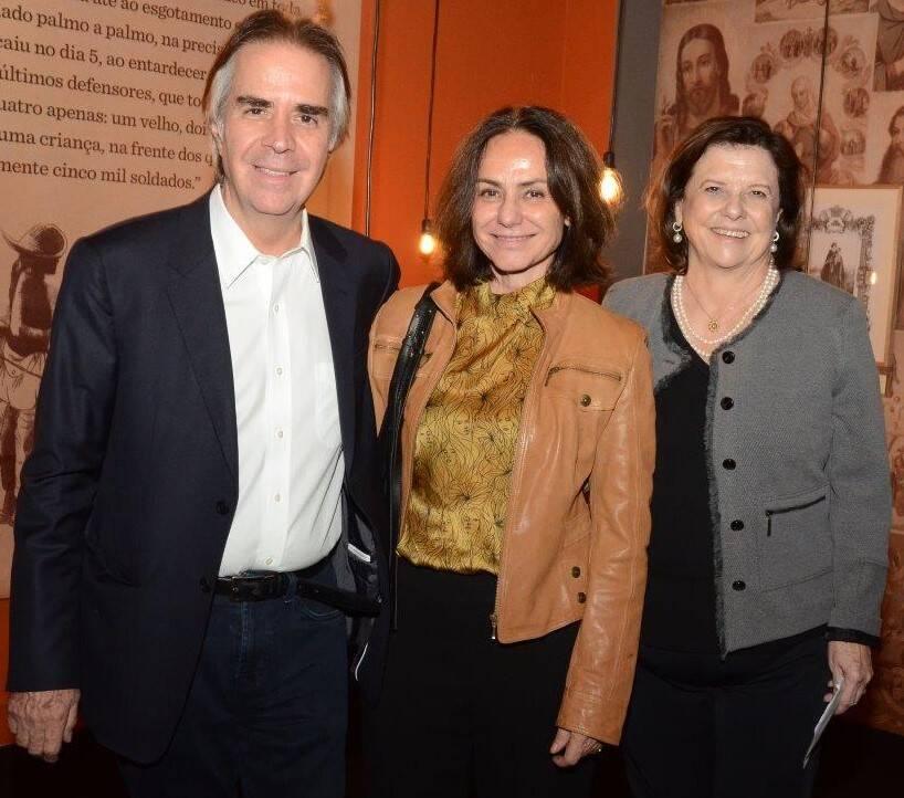 Luiz Roberto Nascimento Silva, Claudia Jaguaribe e Helena Severo  /Foto: Marco Rodrigues