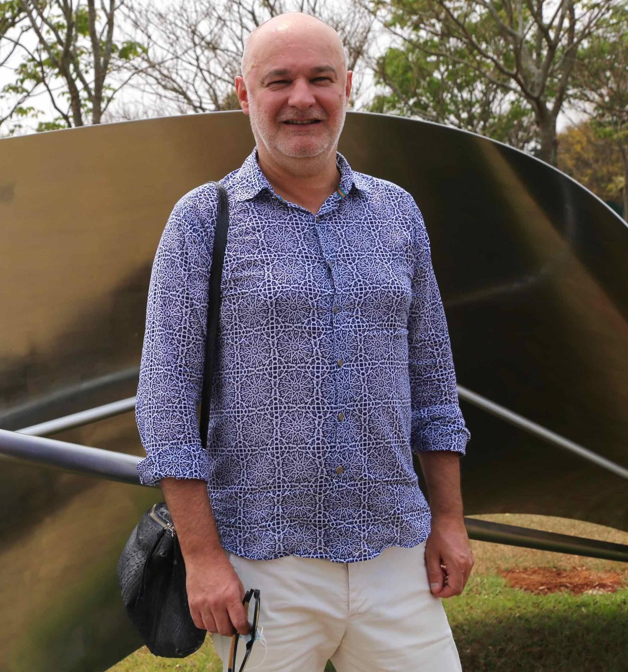 O curador francês Franck Marlot  /Foto: Denise Andrade