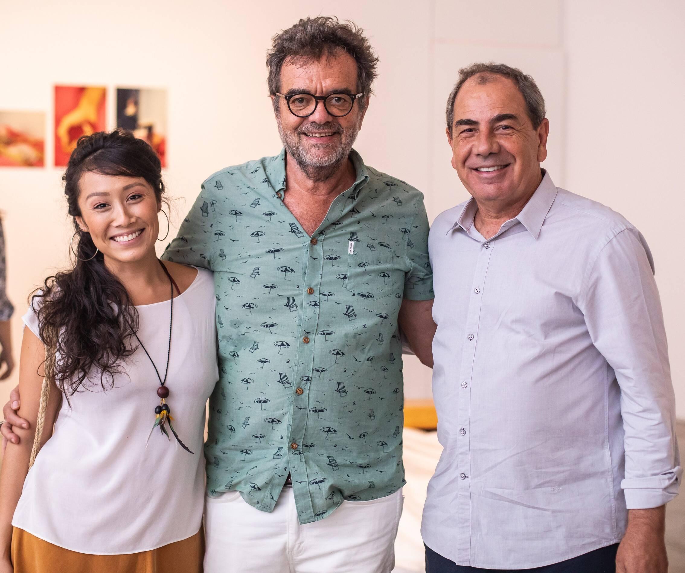 Yohama Eshima, Flavio Tambellini e Luiz Paulo Montenegro  /Foto: Luke Garcia