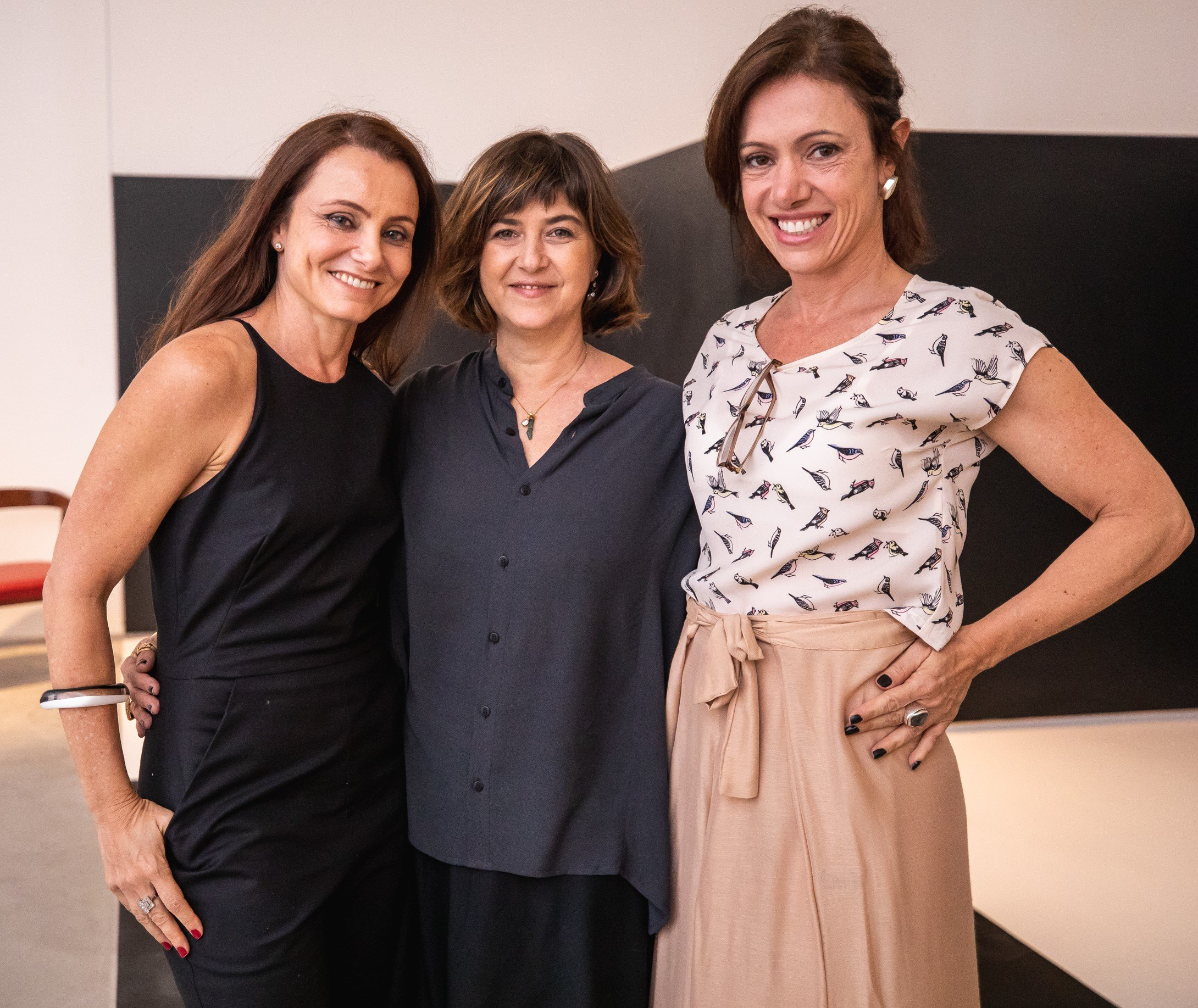 Carolyna Aguiar, Maria Clara Mattos e Bel Kutner  /Foto: Luke Garcia