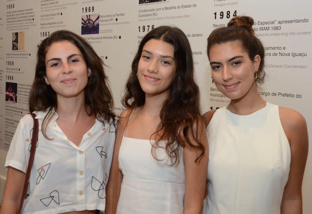 Clara, Maria e Nina Bernardes (bisnetas de Sérgio)  /Foto: Marco Rodrigues
