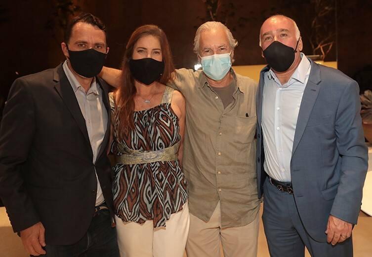 Julius Wiedemann, Marina B. Klink,  Tuca Reine¦üs e Marcelo Fernandes /Foto: Henrique Padilha