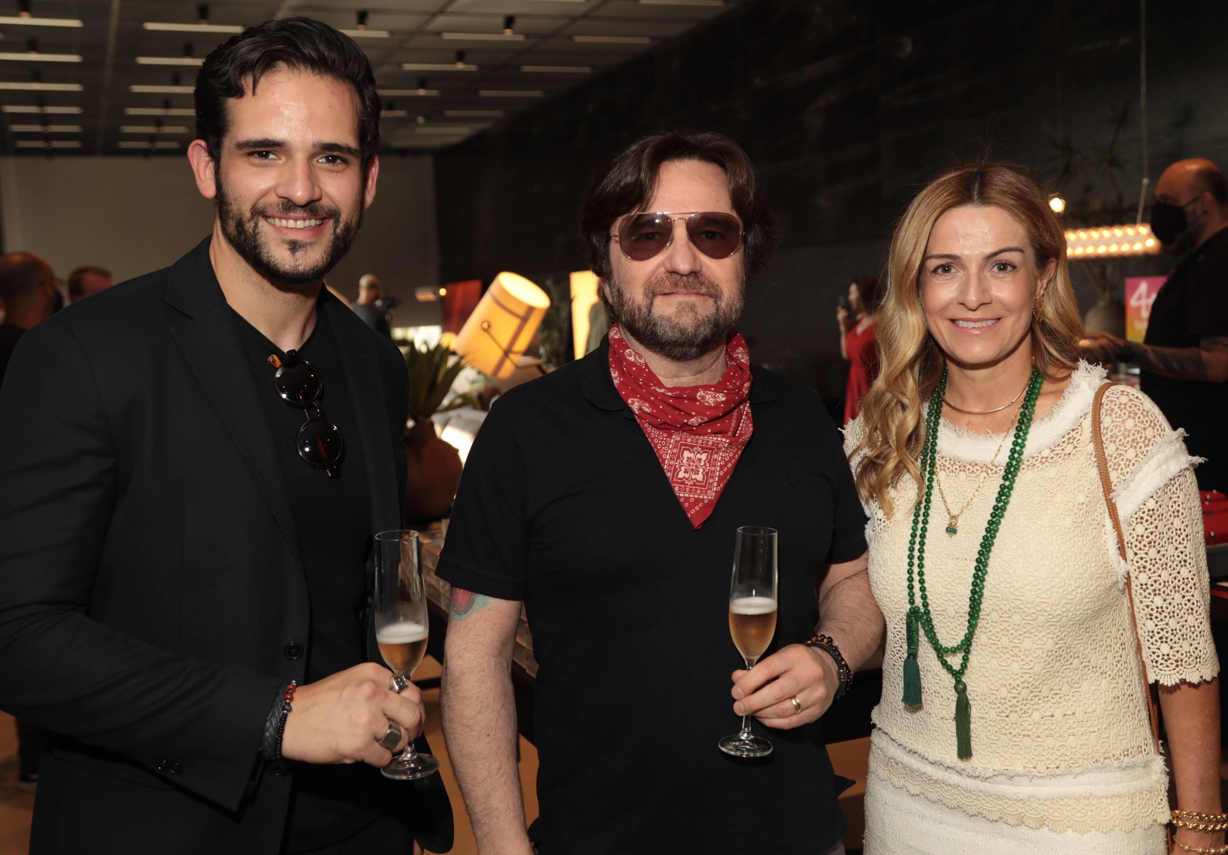 André Gurgel, Sergio Azol e Carol Emerenciano /Foto: Henrique Padilha