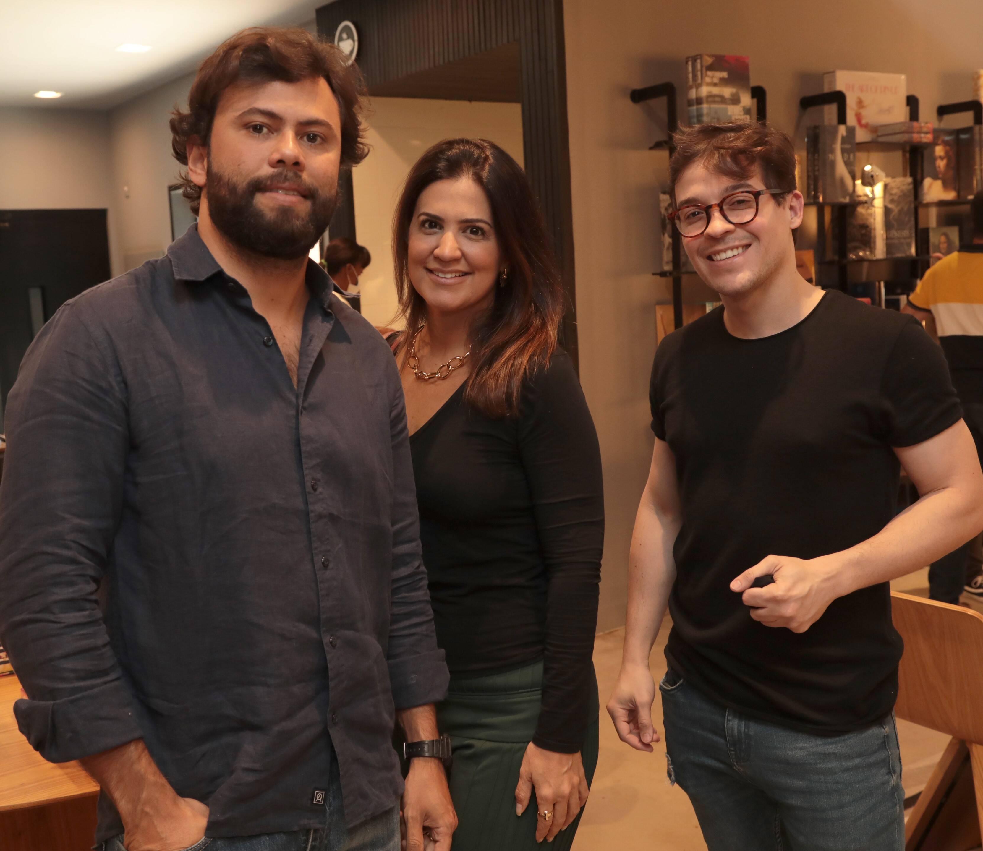 Tadeu Oliveira, Maianah Coin e Danilo Moraes /Foto: Henrique Padilha