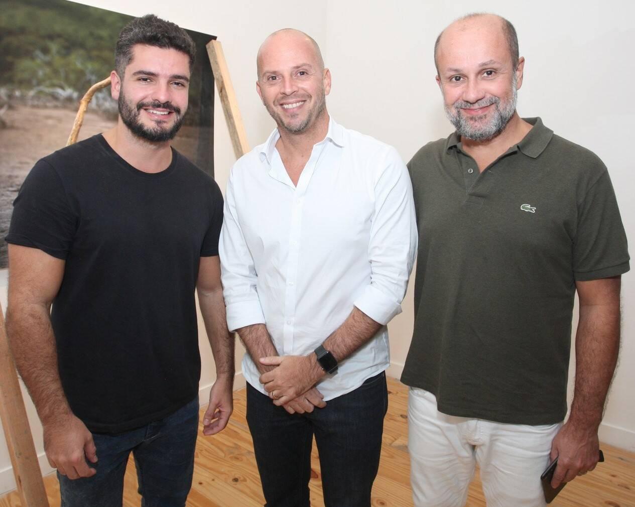 Luiz Danielian, Ricardo Kimaid Jr e Guilherme Schiller  /Foto: Vera Donato