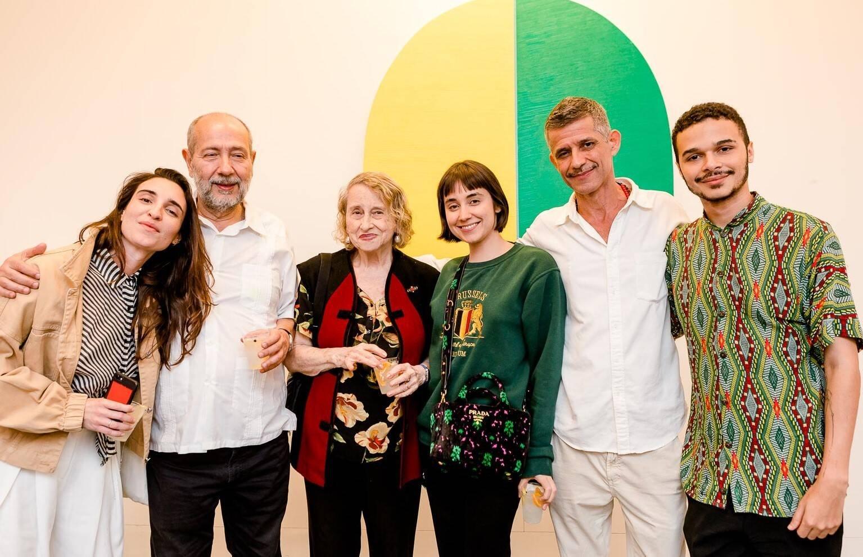 Mariana Falcão, Fernando Cocchiarale, Anna Bella Geiger, Carol Carreteiro, Cabelo e Marcos Pavão /Foto: Bruno Ryfer