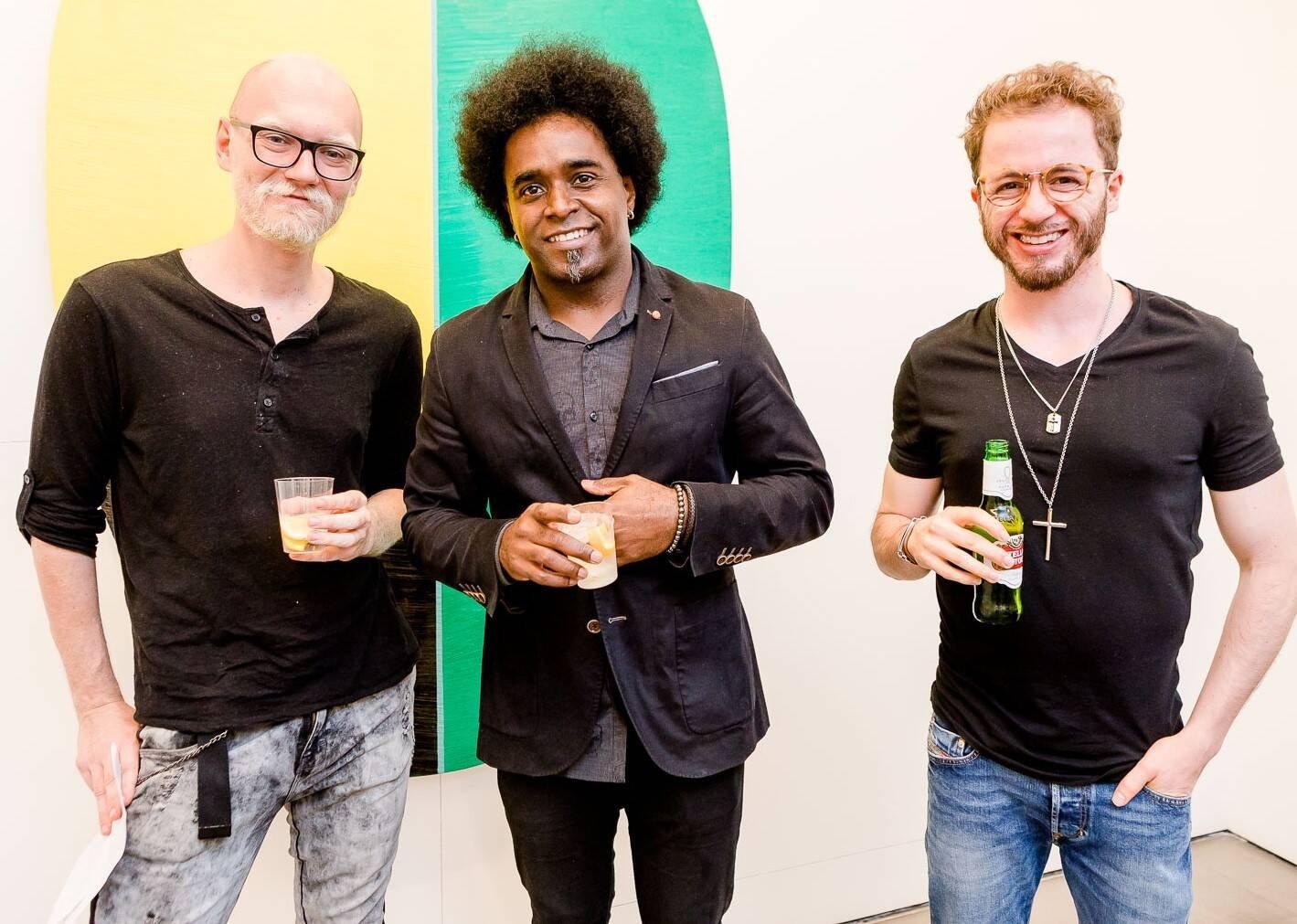 Vlad Khromenko, Alexandre Arrechea e Pedro da Mota /Foto: Bruno Ryfer