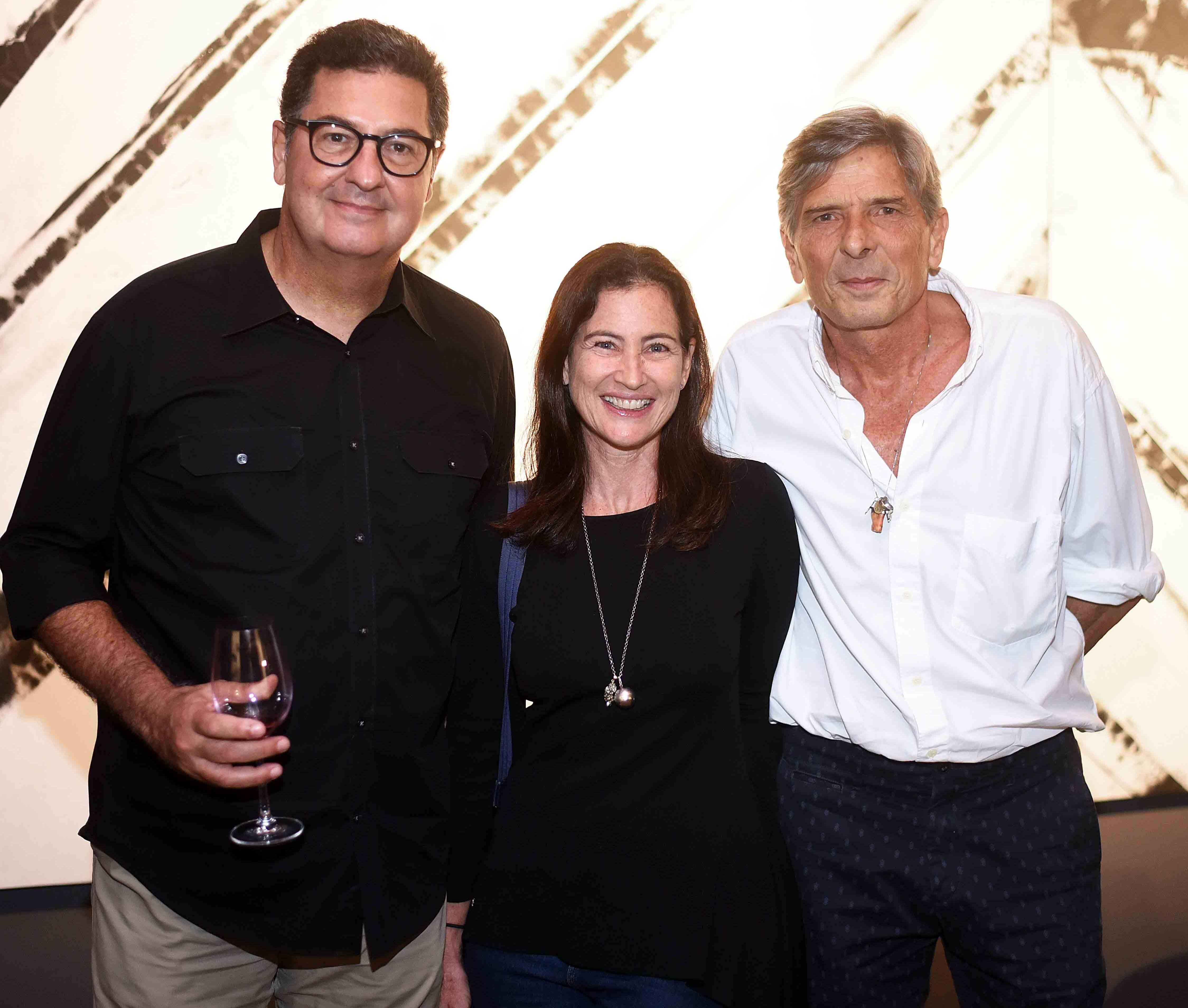 Antonio Violante, Patricia Barros e Bob Cardim /Foto: Ari Kaye