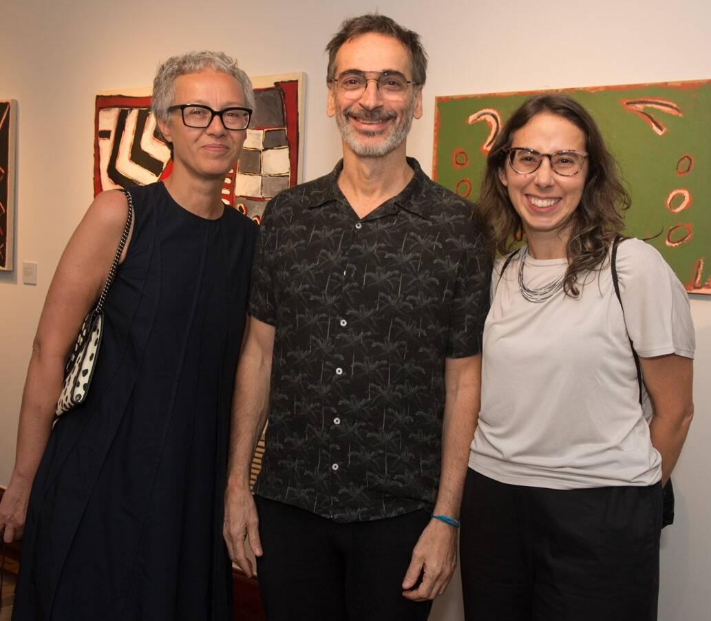 Paola Chieregato, Luiz Zerbini e Rara Dias /Foto: Cristina Lacerda