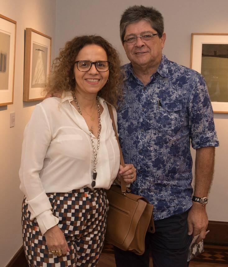 Beatriz Milhazes e Carlos  Alberto Chateaubriand /Foto: Cristina Lacerda