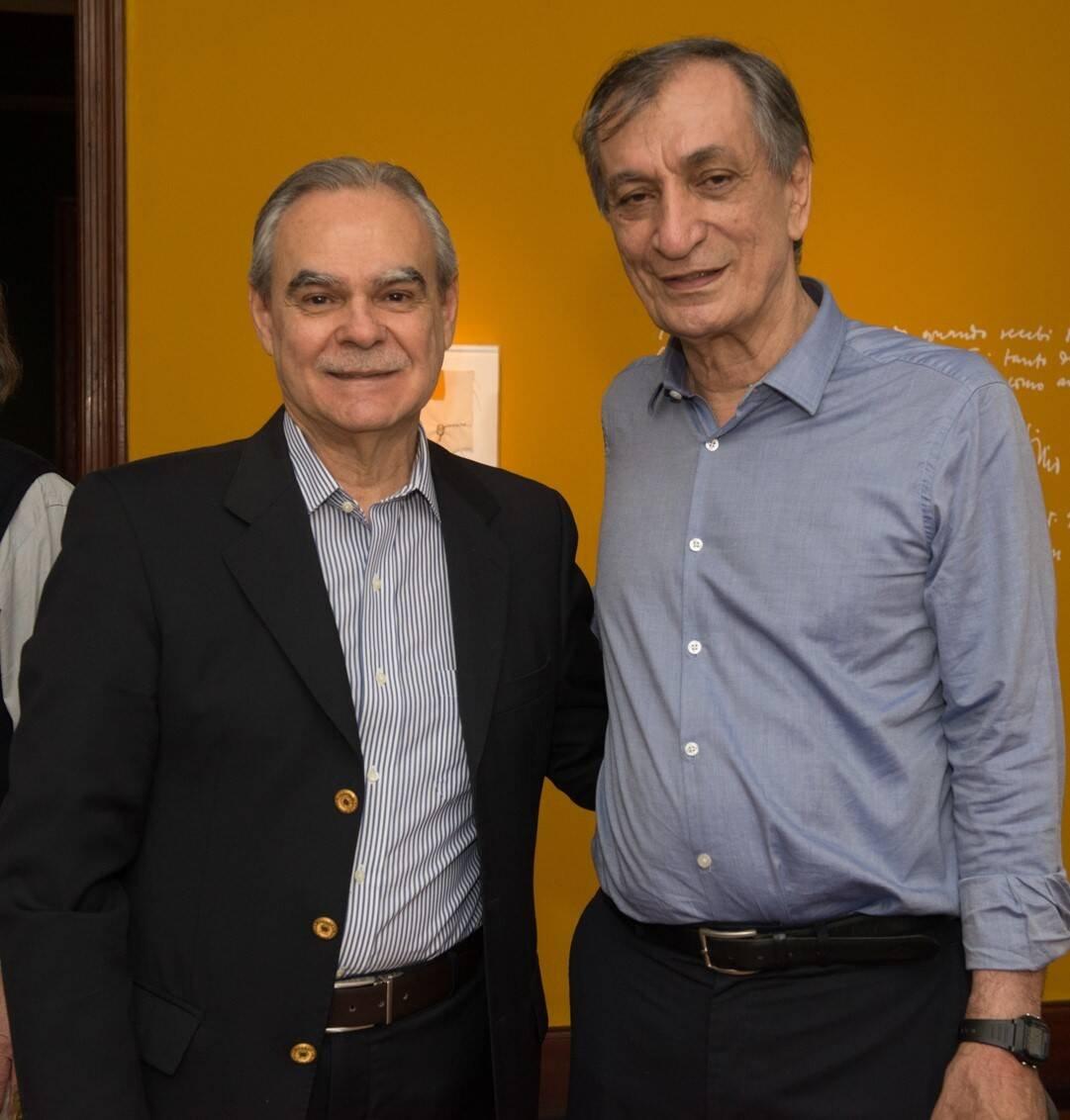 Max Perlingeiro e Antonio Cícero /Foto: Cristina Lacerda