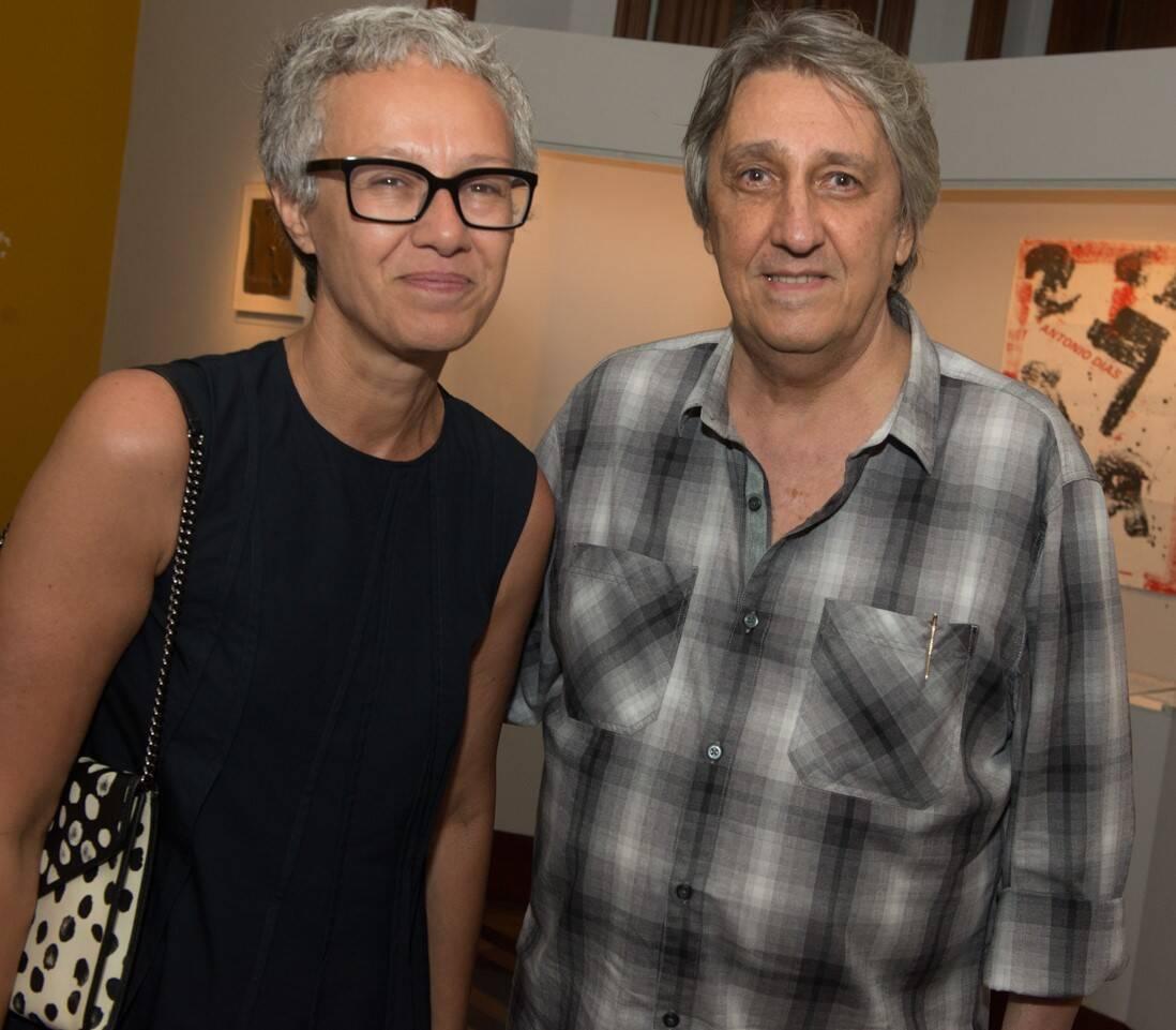 Paola Chieregato e Waltércio Caldas /Foto: Cristina Lacerda