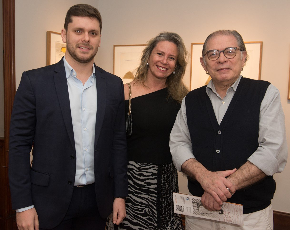 Victor e Bia Perlingeiro com Luciano Figueiredo /Foto: Cristina Lacerda