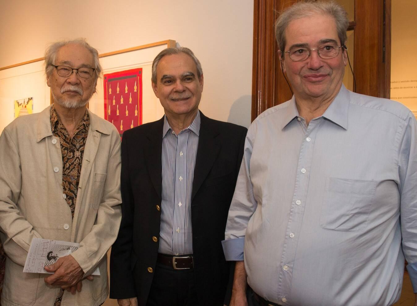 Shiró, Max Perlingeiro e Luiz Antonio de Almeida Braga /Foto: Cristina Lacerda