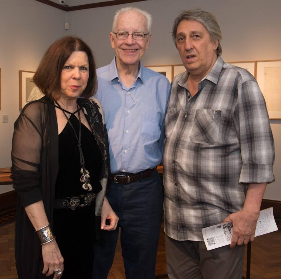 Vanda Klabin, Paulo Bertazzi e Waltércio Caldas /Foto: Cristina Lacerda