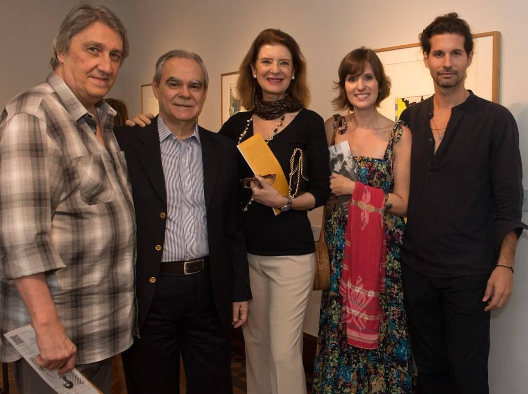 Watércio Caldas, Max Perlingeiro, Fernanda e Constança Basto com Lucio Salvatore /Foto: Cristina Lacerda