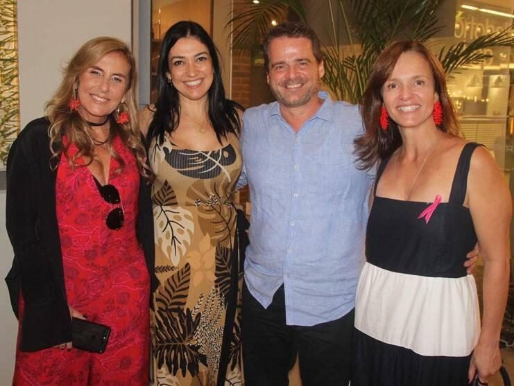 Patricia Hall, Cristina Cortes, Alexandre Bianco e Adriana Carvalho /Foto: Geraldo Valadares