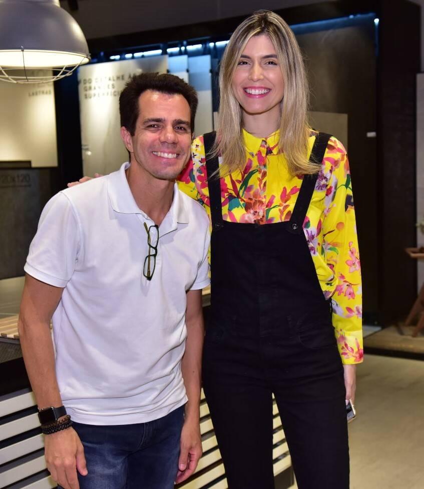Luís Fernando Amorim e Aline Celles /Foto: Paulo Jabur