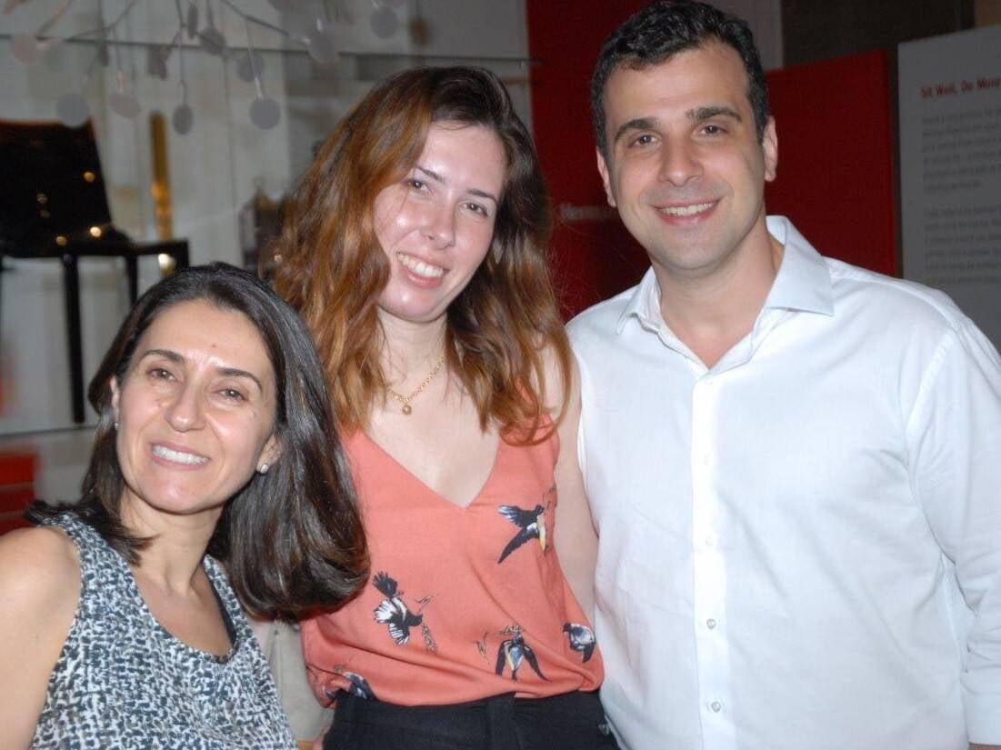 Cintia Milon, Livia Araujo e Paulo Crosman  /Foto: Marco Rodrigues