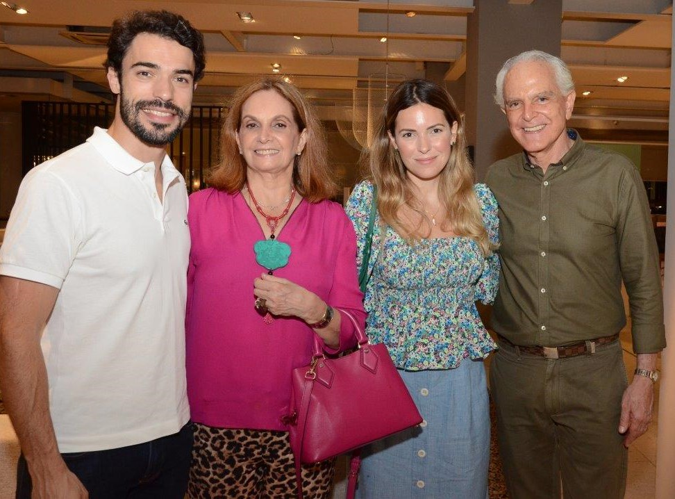 Fabrizio Godoy, Sueli Stambowsky, Barbara Pittigliani e Ricardo Stambowsky  /Foto: Marco Rodrigues